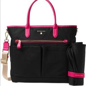 Michael Kors Black and Pink Diaper Bag